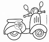 Coloring Limo Transportation Printable Scooter Results Moped sketch template