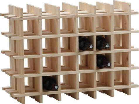casier en bois pour rangement des bouteilles de vin empilable