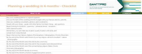 planning  wedding   months checklist excel template