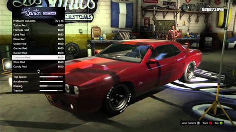 Gta V Muscle Car Customization [xbox 360] Youtube