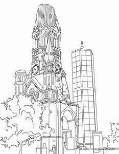 Coloriages Coloriage De L39eglise Du Souvenir Berlin Fr