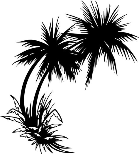 palm tree clipart black and white no background free palm tree drawings free clip free clip