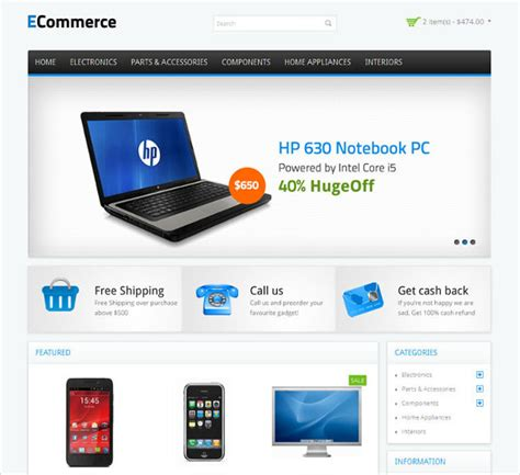 php website templates 21 php ecommerce themes templates free premium templates