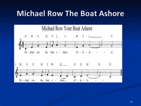 Michael Row Your Boat Ashore Meaning by Marilyn S Presentation Iks July 2011