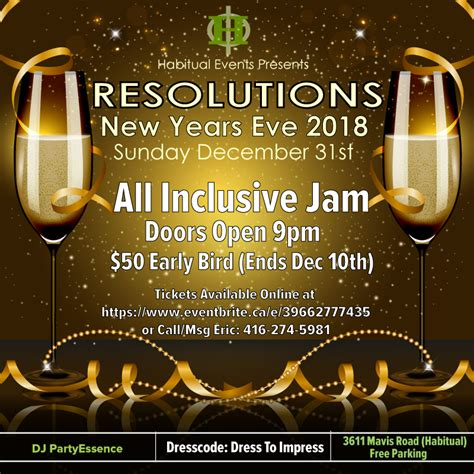 inclusive  years eve jam event mississauga