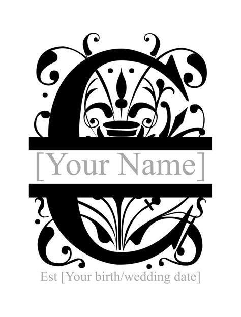 split monogram personlised favorite   remember pinterest monograms letter