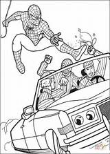 Coloring Robber Pages Spiderman Catch Try Printable Dot Paper Drawing sketch template