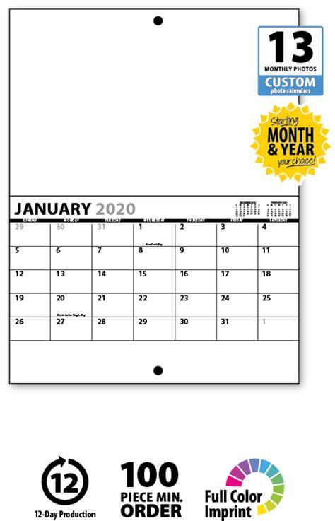 custom calendar printing templates custom photo calendar print