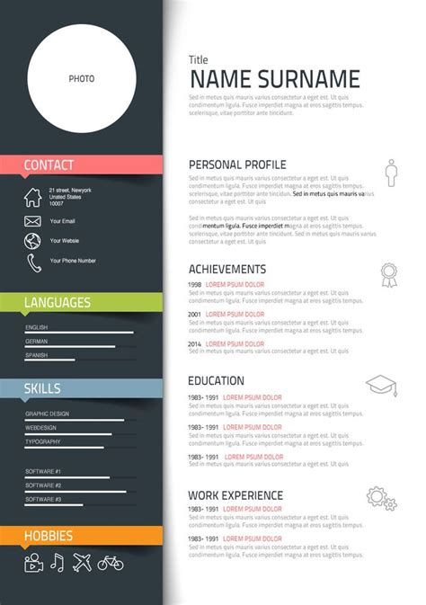 templates for graphic design resumes best 25 graphic designer resume ideas on resume layout creative cv and cv format