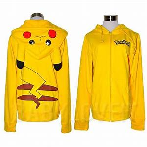 japan pokemon pikachu ears hoody hoo cosplay costume sweatshirt halloween