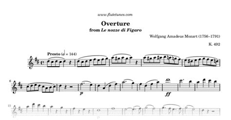 overture from the marriage of figaro w a mozart free