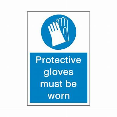 Gloves Mandatory Protective Safety Must Worn Signs