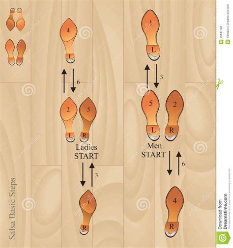 Salsa Basic Steps Stock Photo Image