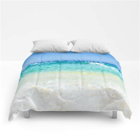 abstract beach comforter ocean sea bedding hawaii