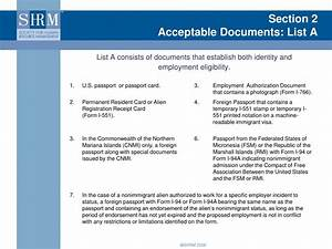 ppt form i 9 training for new managers understanding With list b documents