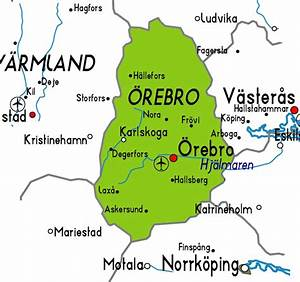 U00d6rebro Karta  U00f6ver Staden