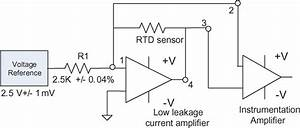 Rtd Sensor  Ohmic  Signal Conditioning  Interfacing Diagram