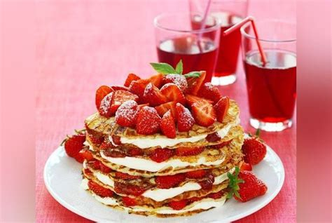 gateau de crepes aux fraises recette