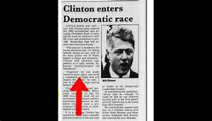 Bill Clinton Declared Presidential Campaign 26 Years Ago ...