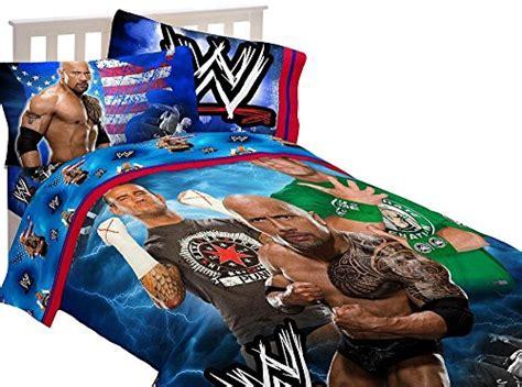 3pc wwe wrestling twin bed sheet set the rock wrestle