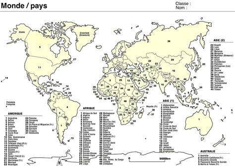Carte Du Monde Avec Capitales Pdf by 9 Planisph 232 Res Continents Population Pays Capitales