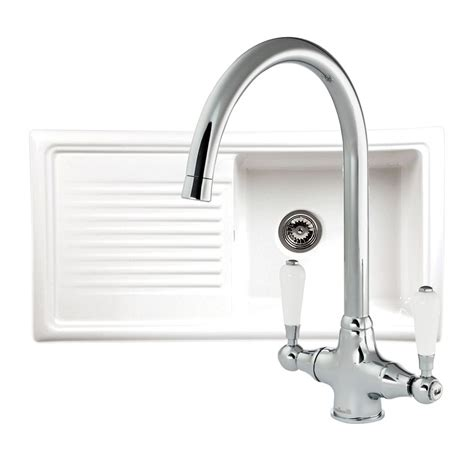 reginox kitchen sink reginox rl304cw ceramic sink with free tap sinks taps 1819