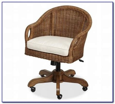 rattan swivel desk chair home decoration