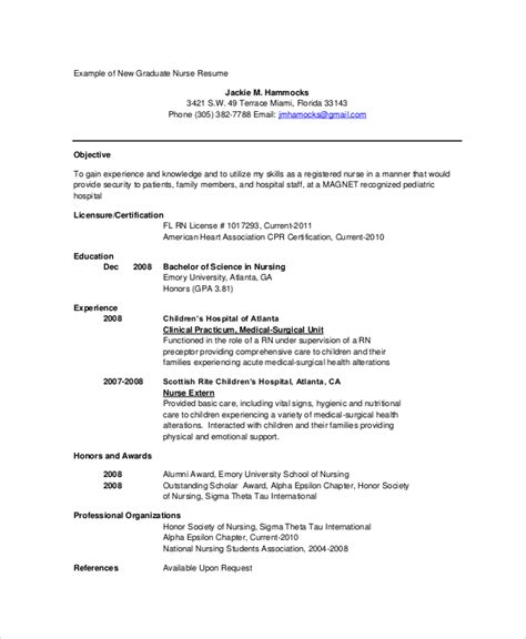 Resumes For Nurses New Grad by 11 Resumes Free Sle Exle Format Free Premium Templates