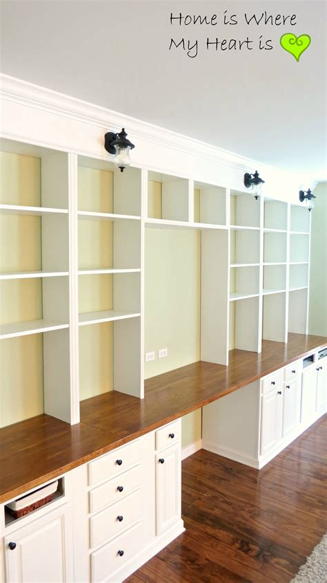 built in desk and bookshelves build a wall to wall built in desk and bookcase