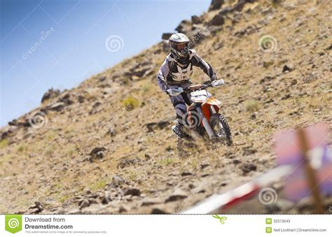 Off Road Dirt Bike Racer Editorial Stock Photo. Image Of
