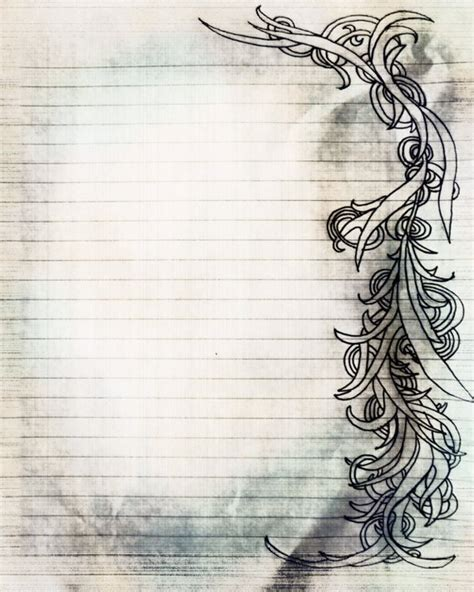 Items Similar To Printable Charcoal Sketch Swirl Filigree