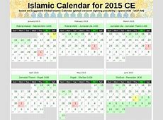 Islamic Calendar for 2015 CE 1436 – 1437 AH – Alhabib's Blog