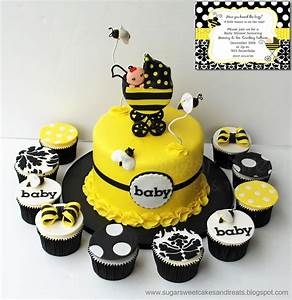 Bumble Bee Baby Shower Cake - CakeCentral com