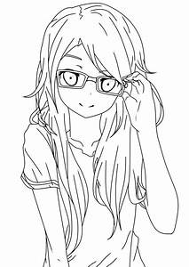 with glasses lineart by salamandershadow deviantart