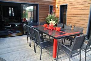 decoration table terrasse With charming salon de jardin pour terrasse 0 deco salon moderne photos
