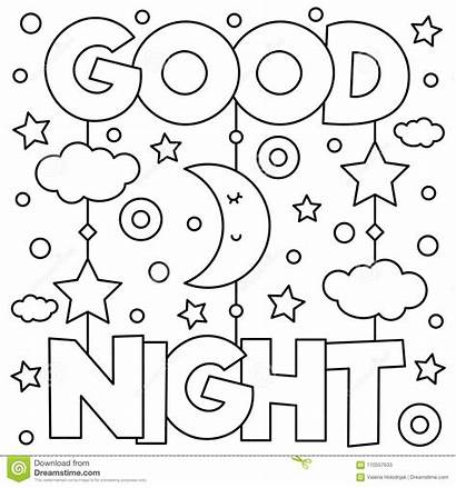 Coloring Night Vector Illustration Drawing Adult