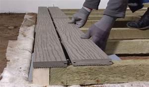 Pose Lame Composite : poser une terrasse en lames composite sur sol meuble wikifab ~ Premium-room.com Idées de Décoration