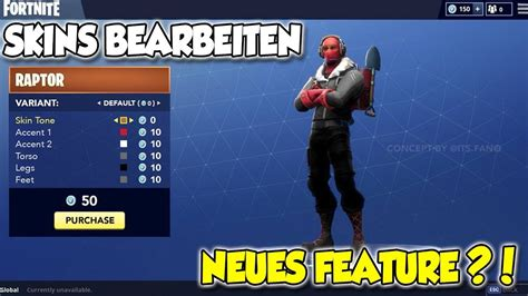 fortnite skin editor feature outfits bearbeiten