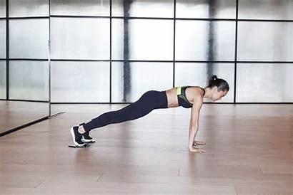 Pike Ups Sliders Planks Fitness Popsugar Exercise