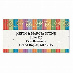color caravan foil border return address labels colorful With colored return address labels