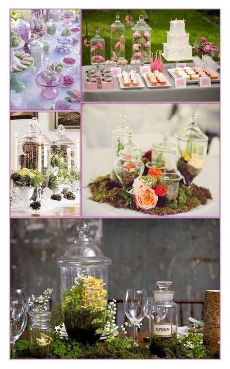 ideas  apothecary jar wedding centerpieces  decor