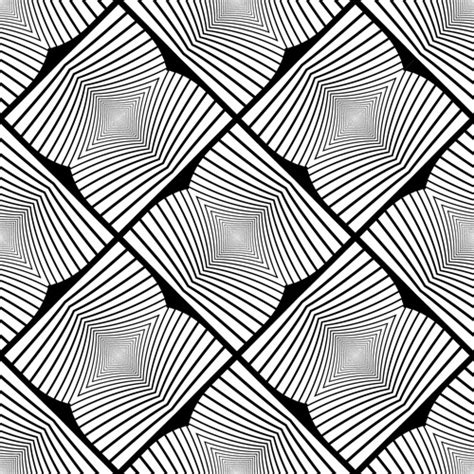 Abstract Black White Pattern by Black And White Flower Seamless Pattern Free Vector