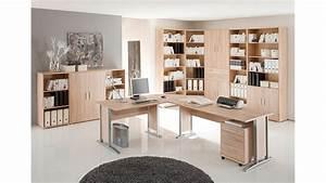 Büromöbel Komplettset : arbeitszimmer b ro set 2 office line schreibtisch regal ~ Pilothousefishingboats.com Haus und Dekorationen