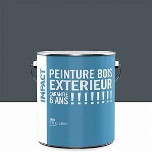 peinture bois exterieur impact gris 25 l leroy merlin With peinture acrylique pour bois exterieur