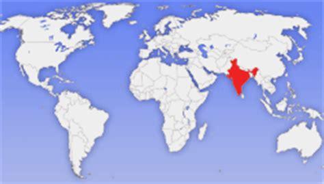 Indien Carte Du Monde by Carte Du Monde Inde Voyages Cartes