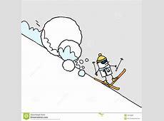 Skifahrer u Lawine vektor abbildung Illustration von