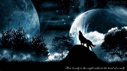 Wolf Howling Wallpapers Moon