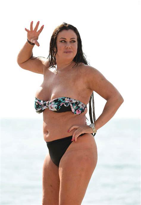 Lisa Appleton Stills in Bikini at a Beach in Spain 69825 ...