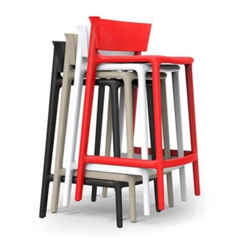 high bar stools tabouret de bar empilable avec dossier africa 85 par vondom