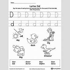 Words Starting With Letter D  Classroom  Letter D Worksheet, Preschool Letters, Letter E